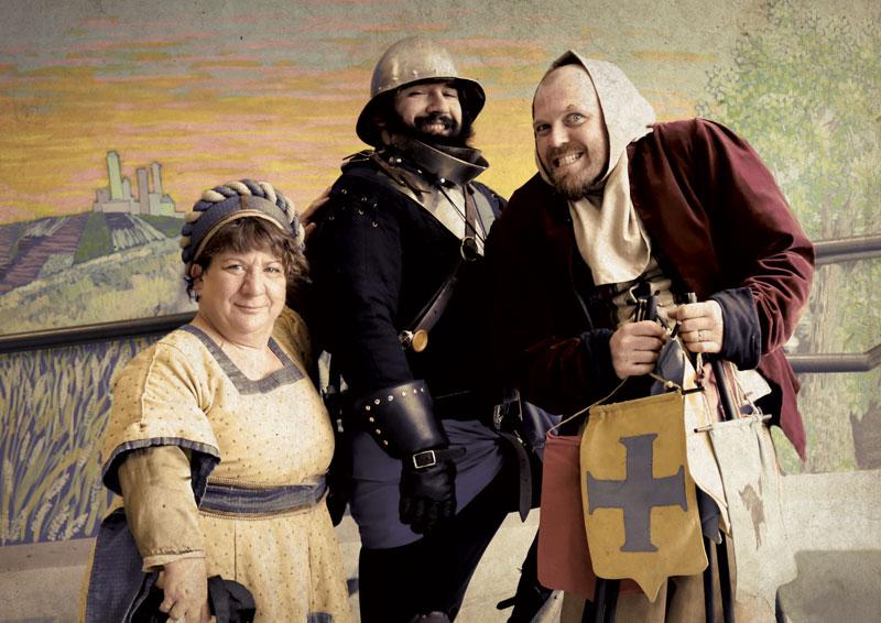 Équipe d'animation d'une journée médiévale